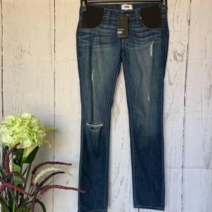Paige Jimmy Jimmy Maternity Distressed Jeans 25